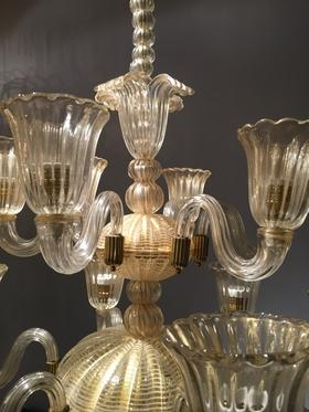 Barovier e Toso Glass Chandelier - Lighting - Stock - Thomas Bonzom
