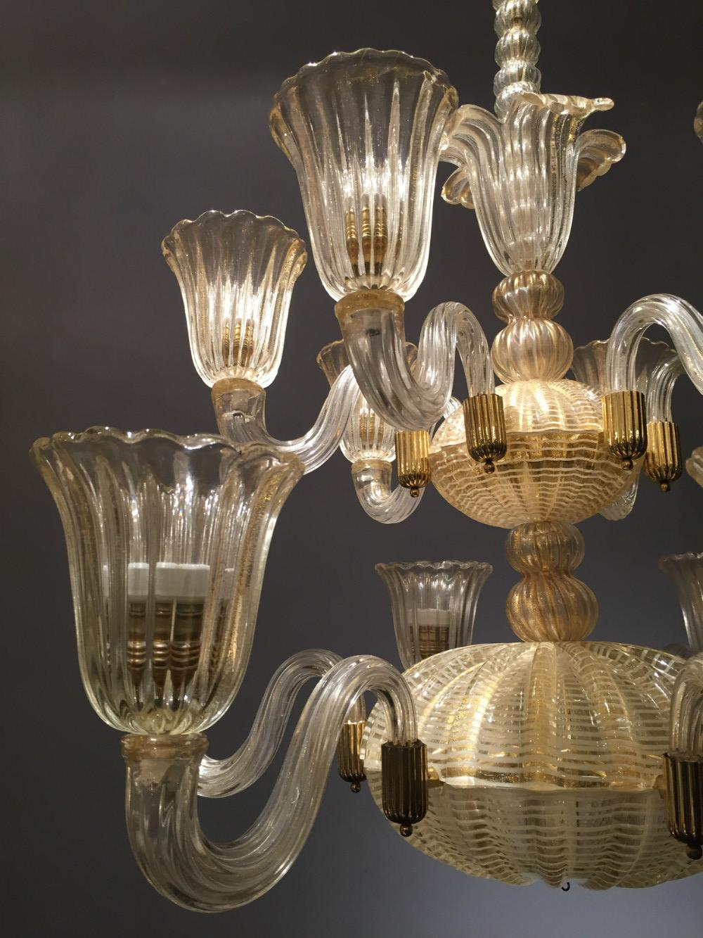 Barovier e Toso Glass Chandelier - Lighting - Stock - Thomas Bonzom