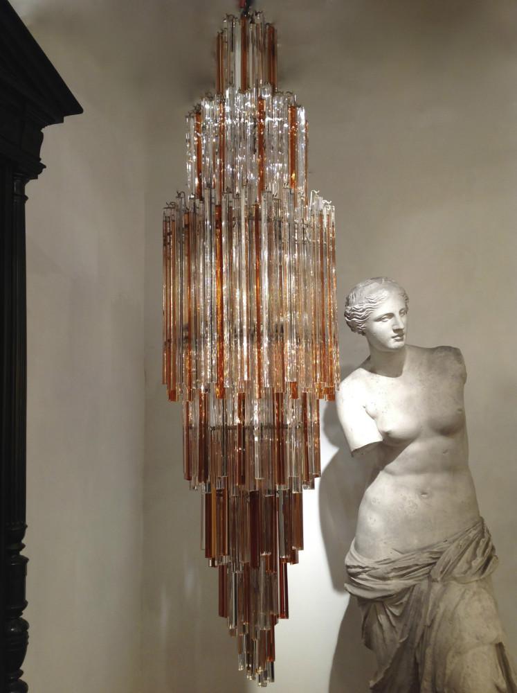 Chandelier en verre casa id e inspirante for Quelle peinture pour salle de bain