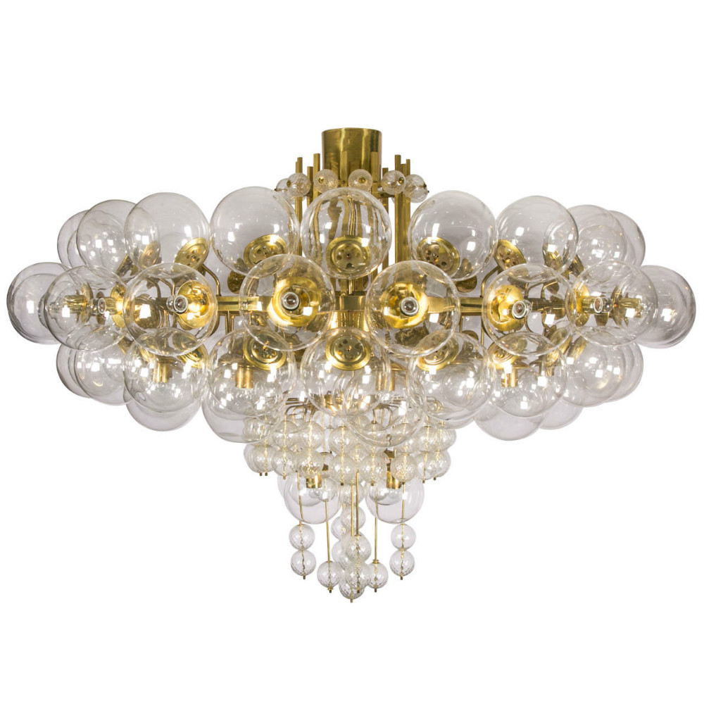 Murano Chandelier Nz: Pair Of Kamenicky Senov Blown Glass Chandeliers