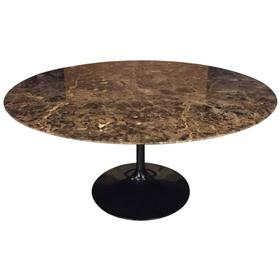 Saarinen Emperador Marble Table By Knoll Furniture Stock - Custom tulip table